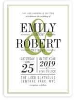 Wed in Type Wedding Invitations