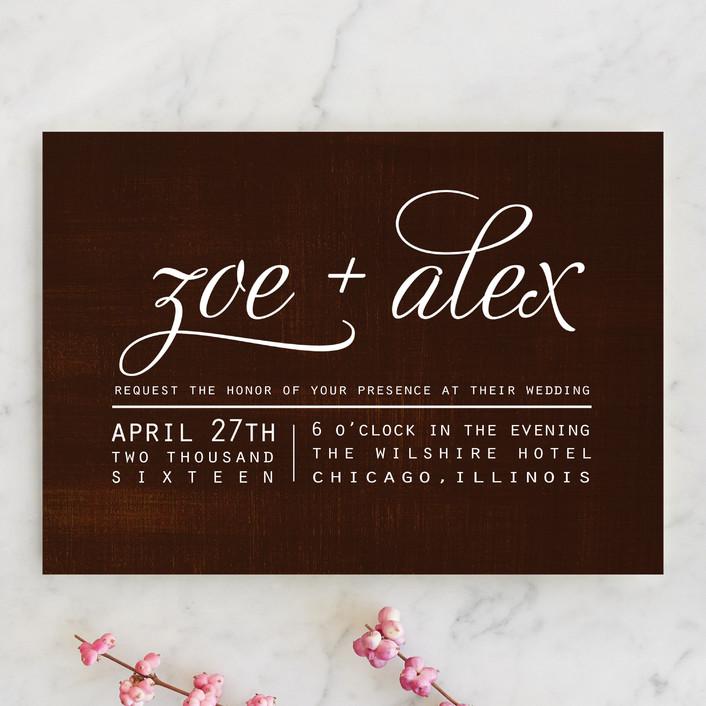 Chocolate Matrimony Wedding Invitations By Jamie Leigh