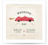 Vintage Car (Bonnie Ride) Wedding Invitations