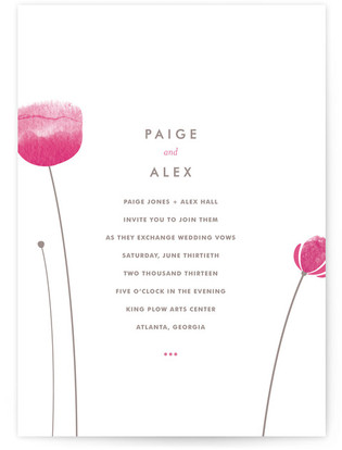 Poppy and Paint Redux Wedding Invitations
