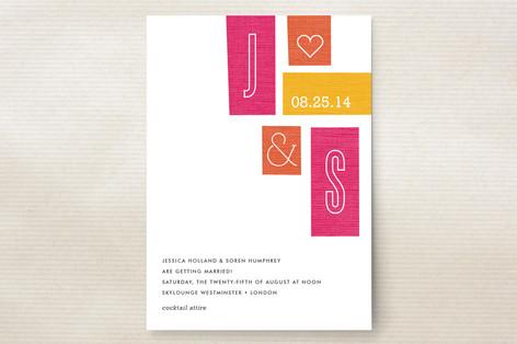 Jet Set Wedding Invitations