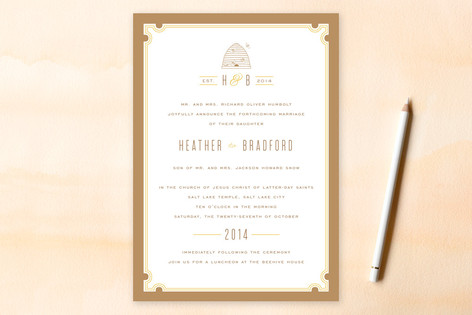 Sweet Honey Wedding Invitations