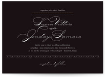 Dotted and Brush Wedding Invitations