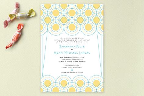 Deco Lights Wedding Invitations