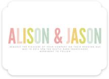 Ice Cream Parlour Pastels Wedding Invitations
