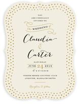 Milkglass Border Wedding Invitations