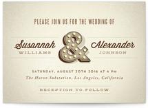 Ampersand Marquee Wedding Invitations