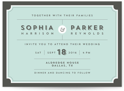 Dapper Wedding Invitations
