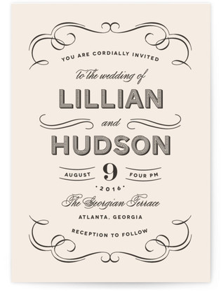 Doux Amour Wedding Invitations