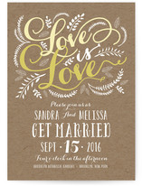 Three Words Wedding Invitations