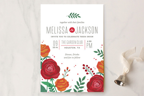 Bold Florals Wedding Invitations