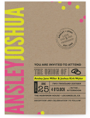 California Dreamin Wedding Invitations