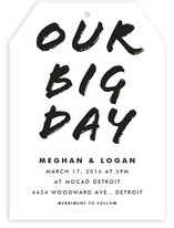 Big Mod Wedding Invitations