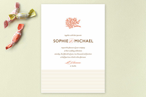 Coral Wedding Invitations