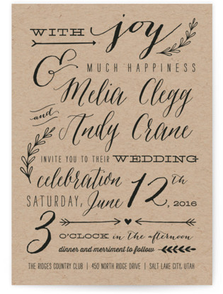 With Joy Wedding Invitations