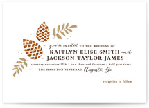 Gold + Pine Wedding Invitations