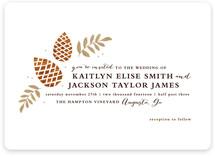 Gold + Pine Wedding Invitations