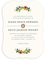 Simple Flora Wedding Invitations