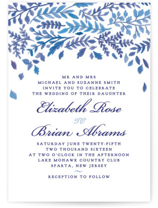 China Plate Wedding Invitations