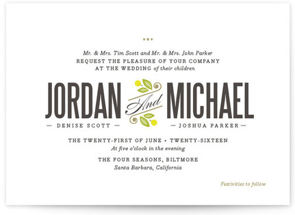 Unity Wedding Invitations