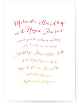 Ombre Ribbon Wedding Invitations