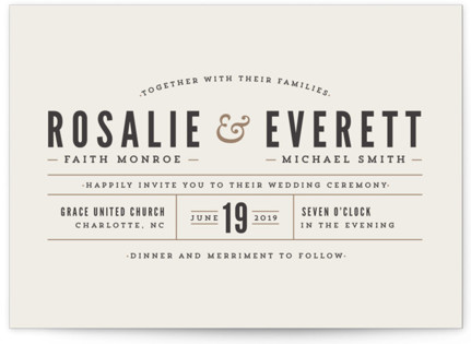 Classic Type Wedding Invitations