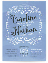 Sweet Name Frame Wedding Invitations