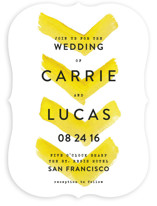 Painted Chevrons Wedding Invitations