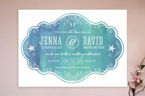 Splash of Paradise Wedding Invitations
