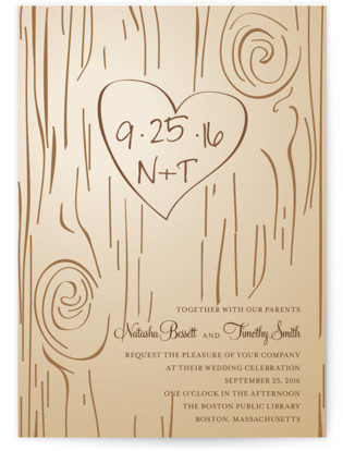 Fall Carving Wedding Invitations
