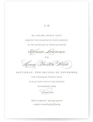 Field Wedding Invitations