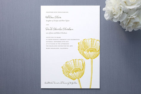 Garden Syndrome Wedding Invitations