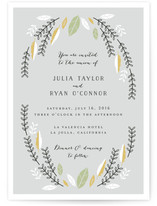 Bohemian Wreath Wedding Invitations