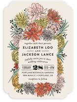 Dahlia Bouquet Wedding Invitations