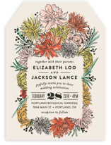 Dahlia Bouquet Wedding Invitations