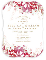 Enchanting Plum Wedding Invitations