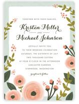 English Floral Garden Wedding Invitations