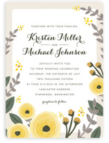 English Floral Garden Wedding Invitations