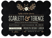 Jardin Nocturne Wedding Invitations