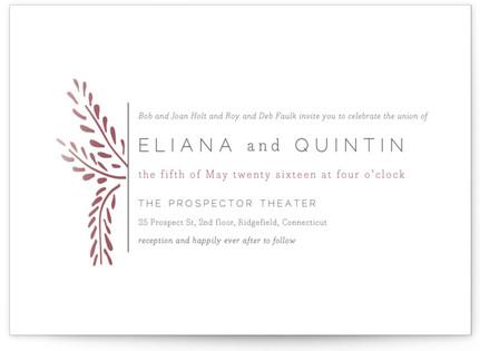 Lupines Wedding Invitations