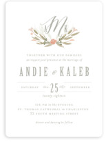 Monogram Floral Wedding Invitations