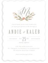 Monogram Floral Wedding Invitations