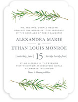 Simple Sprigs Wedding Invitations