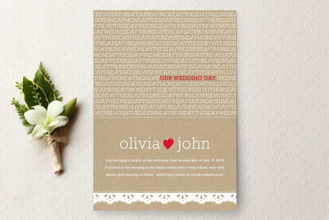 Our Wedding Day Wedding Invitations