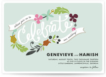 Celebrate Florals Wedding Invitations
