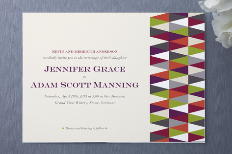 Geometric Pattern Wedding Invitations