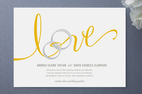 Lovely Ribbon Wedding Invitations