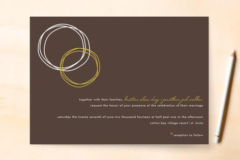 Circles Wedding Invitations
