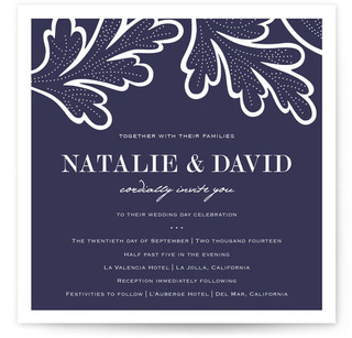 Indigo Evening Wedding Invitations