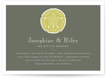 Sand and Sea Wedding Invitations